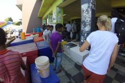 Vchod na rybí trh na Maledivách