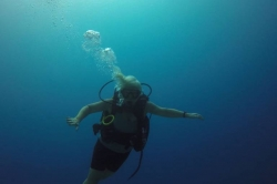 ponor na Maledivách