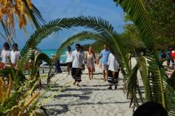 Maledivy svatba - průvod