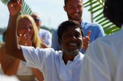 Maledivy svatba - radost Mustafy