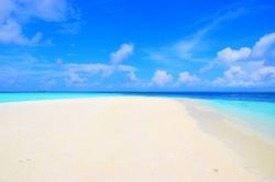 písčina Maledivy