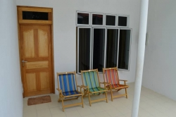 Dovolená na Maledivách - dům č.1 venkovní posezení