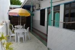 Dovolená na Maledivách - dům č.2 venkovní posezení
