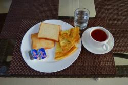 snídaně na Maledivách