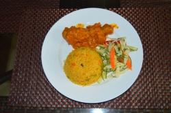 ryba s rýží na večeři