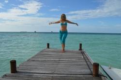 Lucie na Maledivách