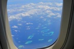 Okýnko letadla a Maledivy