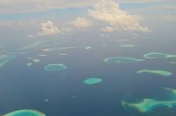 Krásy Malediv z letadla