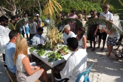 Maledivy svatba - obřad na pláži