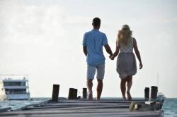 Maledivy svatba - procházka po mole