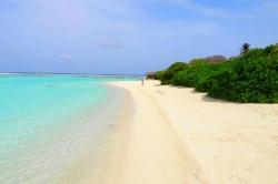 pláž Mathiveri Maledivy
