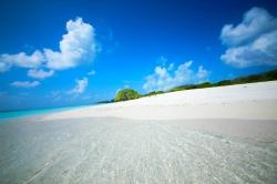 bílý písek na Maledivách