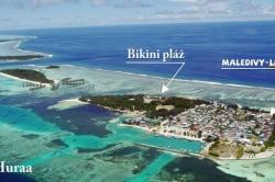 Letecký snímek ostrova