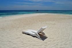 plážové lehátko Maledivy