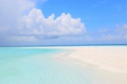 jasno na Maledivách