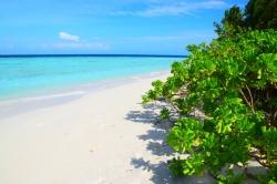 slunečný den na Maledivách