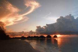 Západ slunce v resortu