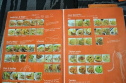 menu restaurace Maledivy