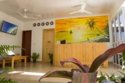 vstupní hala hotelu - Maledivy