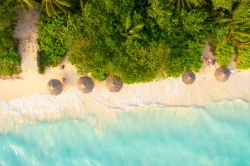 pláž ostrova Ukulhas