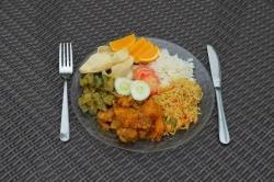 Oběd na Maledivách
