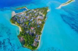 ostrov Mathiveri na Maledivách