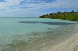 Pláž na zadní strany ostrova