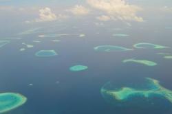 Ostrůvky na Maledivách