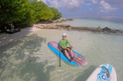 Maledivy - paddleboard