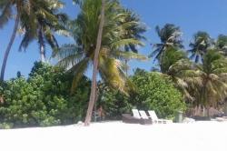 Bikini pláž na Maledivách