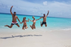 Radost na Maledivách