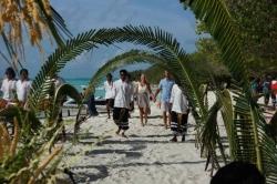 Svatební průvod na Maledivách
