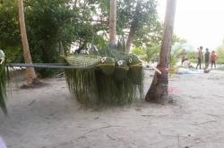 Maledivský svátek - ryby z palmových listů