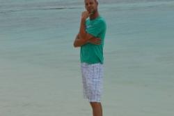 Maledivy Honza na pláži