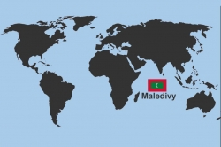 poloha Malediv na mapě