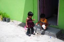 děti na lokálním ostrově