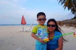 Ellen s Danielkem na Maledivách