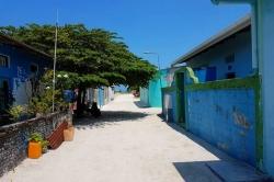 ulice maledivského ostrova