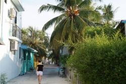 lokální ostrov Malediv
