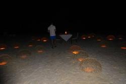 slavnostní večeře na pláži