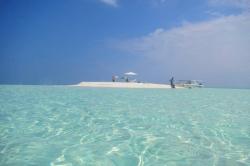 Maledivy sandbank