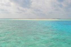 Maledivy - sandbank