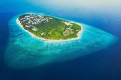 nejkrásnější ostrov Fodhdhoo z dronu