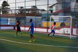 fotbalový zápas Maledivy