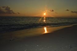 západ slunce do moře