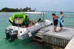 Maledivy - Nástup do Fun Tubes