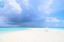 Maledivy - písčina