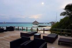 Maledivy - posezení na terase
