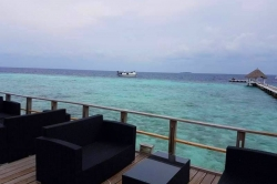 Maledivy - terasa