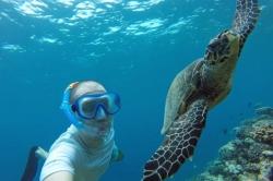 selfie se želvou